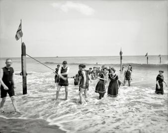 Coney Island bathers 1905