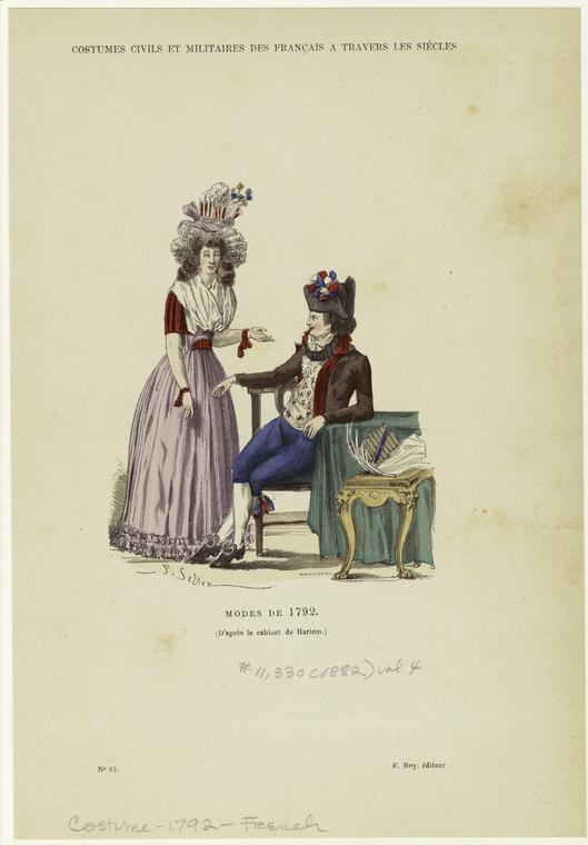Modes de 1792. (1882)