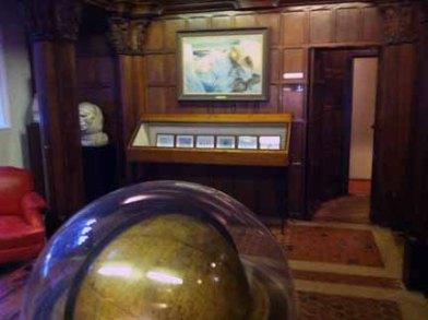 Globe where plans for Kon-Tiki were made