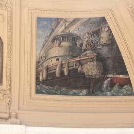 Art work around dome of rotunda