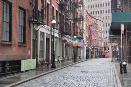 Stone Street,,, a great place to get something to eat.