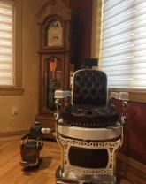 Koch barber chair dating to 1929 looking very much like the one James Dean made famous.