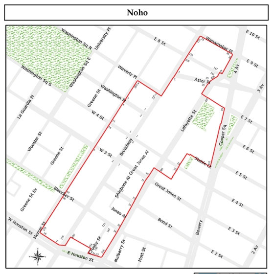 Noho Nyc Map.Thombradley Where Taking A Walk Is