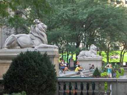 NYC –  The Library Lions of the NYC Public Library – 109 years old,